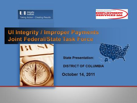October 14, 2011 State Presentation: DISTRICT OF COLUMBIA.