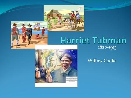 1820-1913 Willow Cooke. Early Years Harriet was born a slave. Harriet did hard work as a child. Slaves were not aloud to learn including Harriet because.