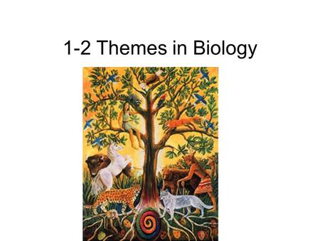 1-2 Themes in Biology. Diversity & Unity of Life Diversity: There's lots of different living things. Unity: All these different living things have certain.
