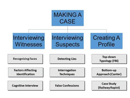 MAKING A CASE Interviewing Witnesses Interviewing Suspects Creating A Profile Recognising Faces.