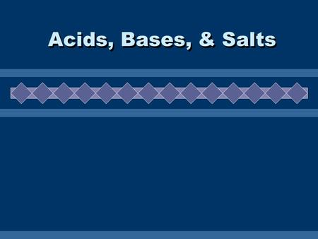 Acids, Bases, & Salts. Properties  Taste Sour.  Can sting skin if open (cut).  React with metals to produce H 2 gas.  Disassociate in water to produce.