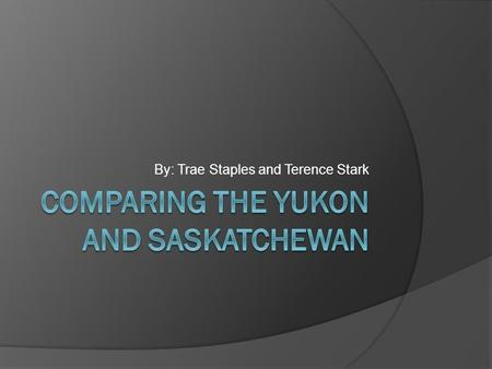 By: Trae Staples and Terence Stark.  This is a picture of the Yukon in the summer!