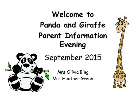 Parent Information Evening