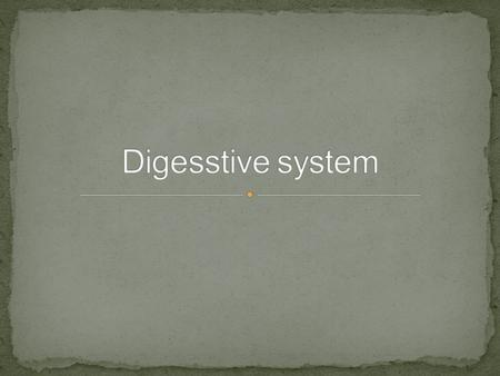 The food is very important to give us energy, healthy and to grow. how can our body digest the food? and what we mean by digestion? Digestion is the.