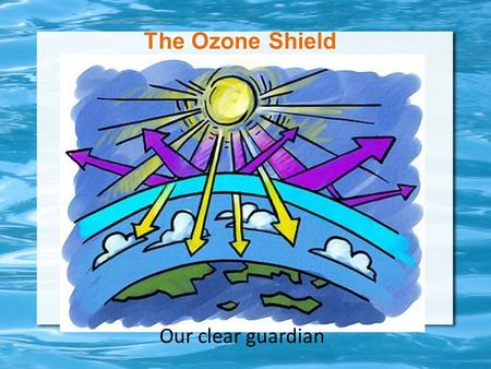 The Ozone Shield Our clear guardian. What are we supposed to be learning? SEV3. Students will describe stability and change in ecosystems.  Describe.