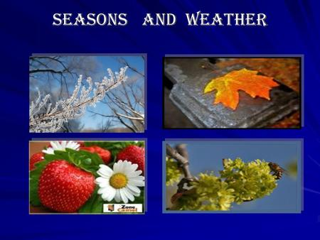 Seasons and weather Seasons and weather Seasons and weather.