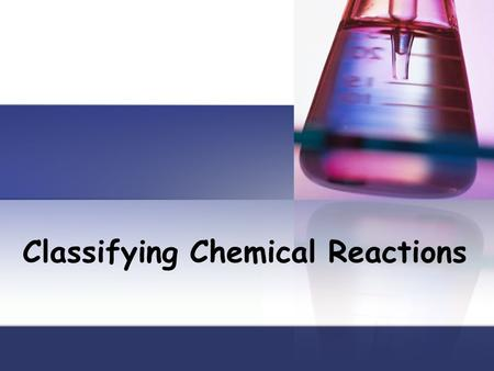 Classifying Chemical Reactions. Types of Reactions There are literally millions of chemical reactions that occur every day. Chemists have defined five.
