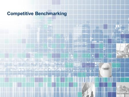 Competitive Benchmarking. Measures market penetration against your selected competitive set and enables you to formulate effective sales, marketing and.