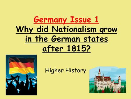 why did nationalism in germany fail However, the nationalism that inspired the german people to rise against the empire of napoleon i was conservative, tradition-bound, and narrow rather than liberal, progressive, and universal and when the fragmented germany was finally unified as the german empire in 1871, it was a highly authoritarian and militarist state.