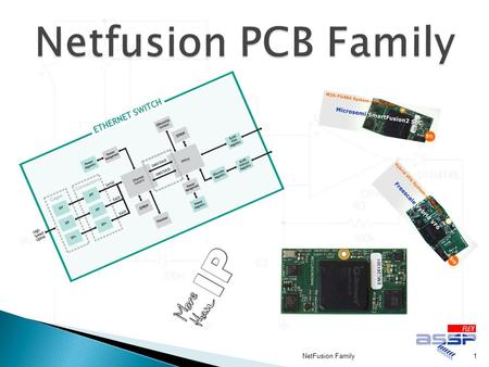 1NetFusion Family. ●A close family of electronic products providing Ethernet connectivity to a new modern range of powerful FPGA/ASIC processing boards.