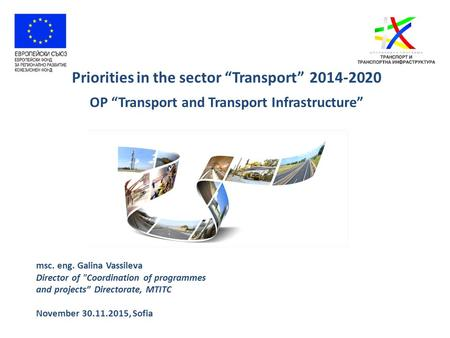"Priorities in the sector ""Transport"""