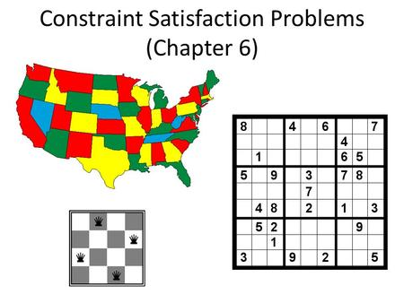 Constraint Satisfaction Problems (Chapter 6). What is search for? Assumptions: single agent, deterministic, fully observable, discrete environment Search.