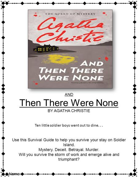 a review of and then there were none a novel by agatha christie