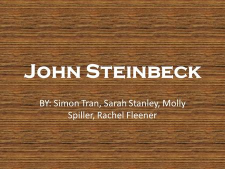 an analysis of the life of john steinbeck and his novella of mice and men - analysis of of mice and men by john steinbeck of mice and men' by john steinbeck is a classic novel, tragedy, written in a social tone the authorial attitude is idyllic, however, as the story develops it changes into skeptic.