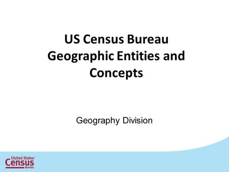 Geographic Entities and Concepts