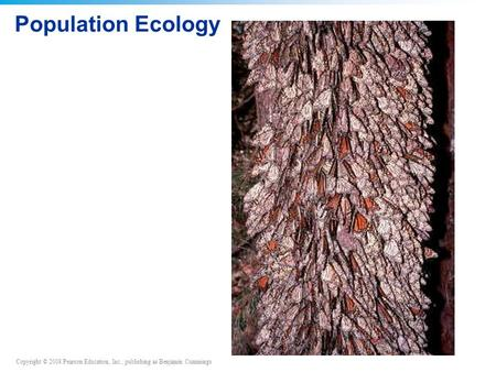 Copyright © 2008 Pearson Education, Inc., publishing as Benjamin Cummings Population Ecology.