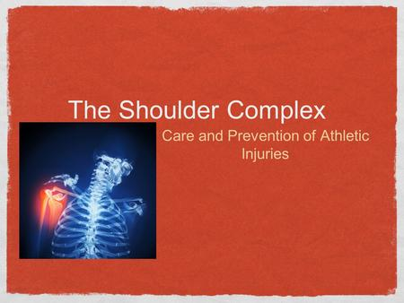 The Shoulder Complex Care and Prevention of Athletic Injuries.