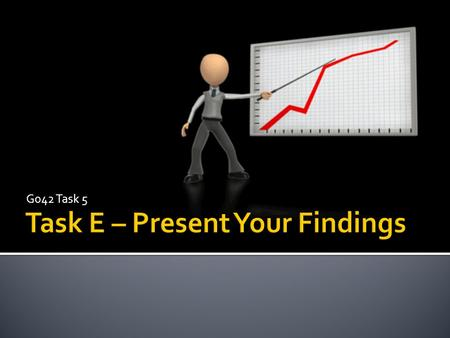 G042 Task 5  An understanding of what is required for task e  Present findings to your investigation.