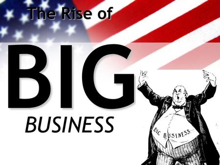 The Rise of BIG BUSINESS. 1 st Industrial Revolution (Pre-Civil War) Most business were family-owned Produced goods for local or regional markets.