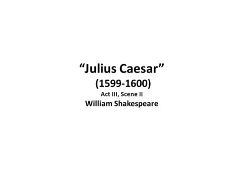 FREE resources to use when teaching Julius Caesar Act    Scene     caesar