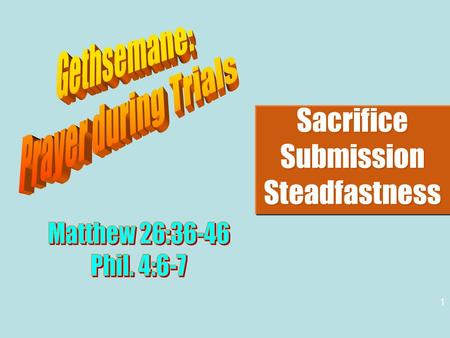 Sacrifice Submission Steadfastness Sacrifice Submission Steadfastness 1.