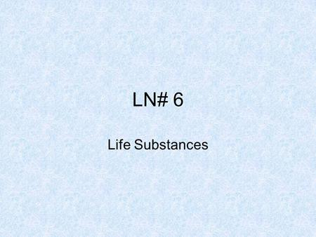 LN# 6 Life Substances. How are cells organized? Cells are specialized to do specific jobs. Cells do not work alone. Many thousands of cells make up a.