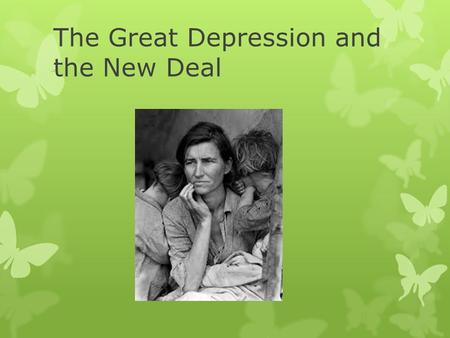 The Great Depression and the New Deal. Causes of Depression  Stock Speculation  Buying on Margin  Borrowing Money to invest  Overproduction of Goods.