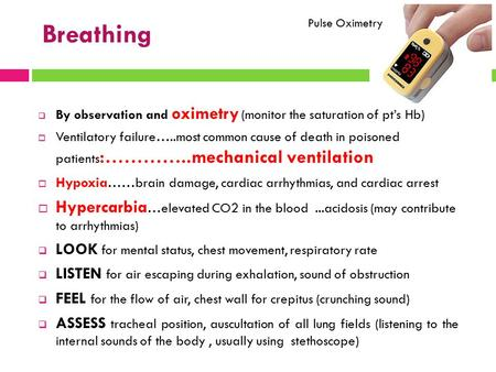 Breathing Pulse Oximetry