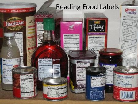 Reading Food Labels. Food labels are tools that can help you make healthy food choices.