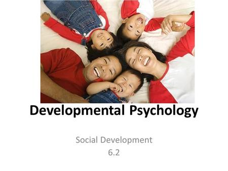 Developmental Psychology Social Development 6.2. Learning Outcomes General framework (applicable to all topics in the option) To what extent do biological,