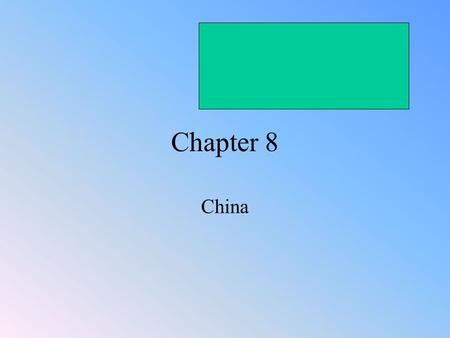 Chapter 8 China. China Reunified In the Tang (TONG) and Song Eras, the scholar- gentry as the political and economic elite <strong>of</strong> Chinese society, replaced.