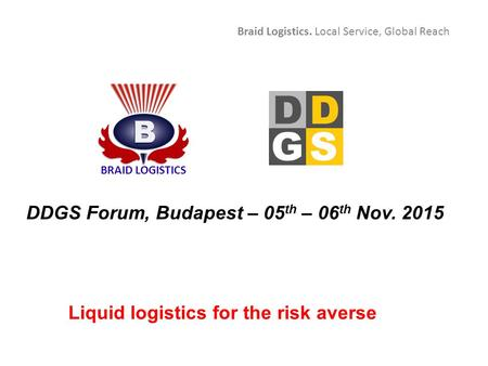 DDGS Forum, Budapest – 05th – 06th Nov. 2015