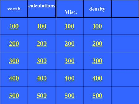 200 300 400 500 100 200 300 400 500 100 200 300 400 500 100 200 300 400 500 100 vocab calculations Misc. density.