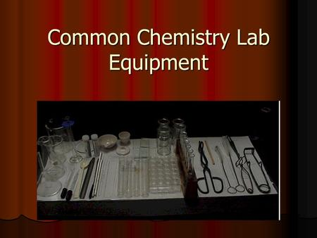 "Common Chemistry Lab Equipment. Chemistry Lab Drawer Well Plate Well Plate Used for ""small scale"" reactions, where you are only using drops of solutions."