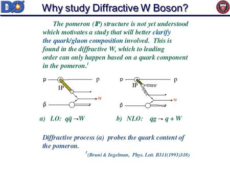 Why study Diffractive W Boson?. Data Samples Z boson sample: Start with Run1b Z ee candidate sample Central and forward electron W boson sample: Start.