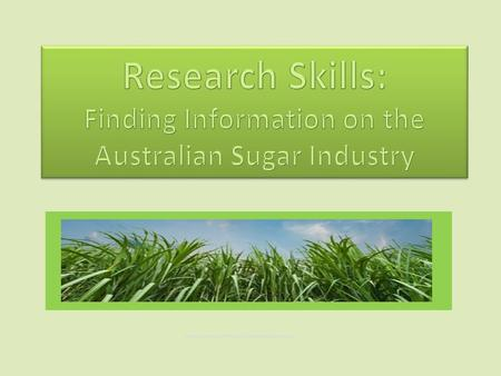 Image courtesy of tratong freedigitalphotos.net. Outline of Session 1.Research Skills: 5 stages 2.Search for information on the Sugar Industry:  From.