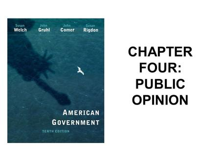 CHAPTER FOUR: PUBLIC OPINION. Nature of Public Opinion Public Opinion – the collection of individual opinions toward issues or objects of general interests,