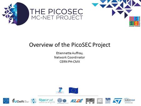 Overview of the PicoSEC Project Etiennette Auffray, Network Coordinator CERN PH-CMX.