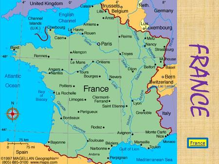 FRANCE France. Where is France? On the France outline you will see the little island of Corsica, which belongs to France, also in the French flag colors.
