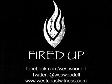 Facebook.com/wes.woodell