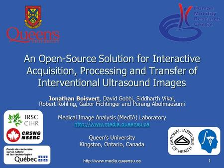 An Open-Source Solution for Interactive Acquisition, Processing and Transfer of Interventional Ultrasound Images Jonathan.