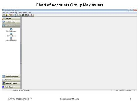 1 Chart of Accounts Group Maximums 5/17/06 (Updated 10/18/13)Fiscal Mentor Meeting.