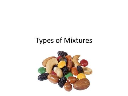 Types of Mixtures.