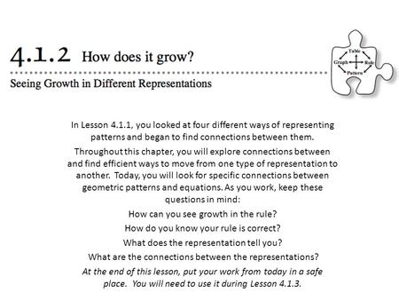 How can you see growth in the rule?