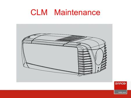 CLM Maintenance. Covers : 1 - Side cover, 2 - Back cover, 3 Top cover, 4 - Lamp door, 5 - Side cover input and communication side, 6 - HEPA dust filter,