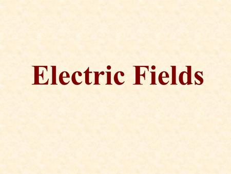 Electric Fields. The gravitational and electric forces can act through space without any physical contact between the interacting objects. Just like the.