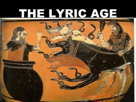 THE LYRIC AGE. I. MINOAN TRADE A. INTRODUCTION 1. WHO- SEAFARING PEOPLE AROUND 2. WHAT - DOMINATED TRADE IN THE EASTERN MED. 2000 B.C. (CENTRAL LOCATION)