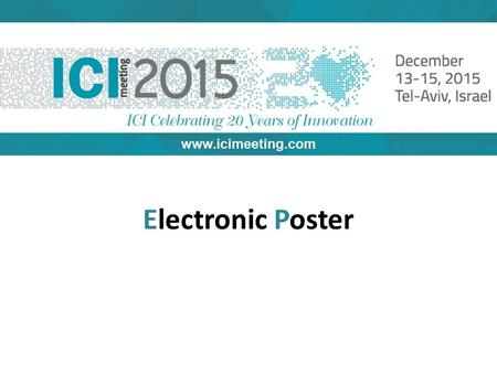 Electronic Poster. What is an E-poster The E-poster is a PPT presentation accessible on a computer station during the congress. The computer stands will.
