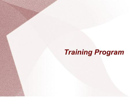 Training Program. Main Purposes Communication with the customers Better negotiation Provide training courses for the sellers.