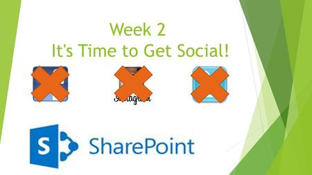 Week 2 It's Time to Get Social!. Today we will:  Build our social networking profiles and type in information about ourselves so that others know who.